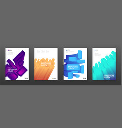 Colourful brochure covers set vector