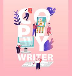 copy writer work concept online journalist vector image
