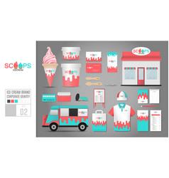 Corporate identity template set 2 logo concept vector