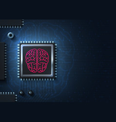 cpu new processor virtual reality cyber mind vector image