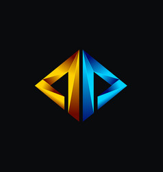 creative abstract logo concept design with triangl vector image
