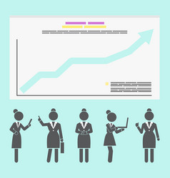 creative business growth graphics design with vector image