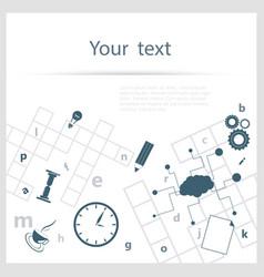 Crossword background vector