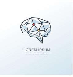 digital brain icon vector image