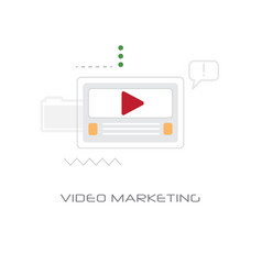 digital business video marketing strategy concept vector image