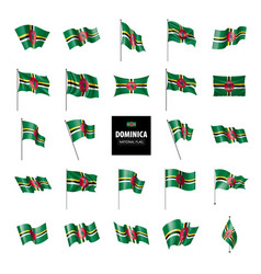 dominica flag on a white vector image
