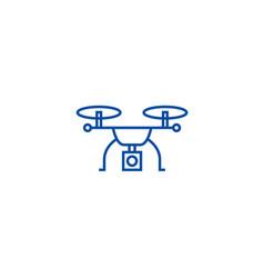 drone logistics line icon concept drone logistics vector image