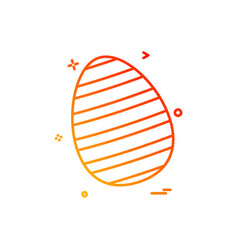 egg easter festival icon design vector image