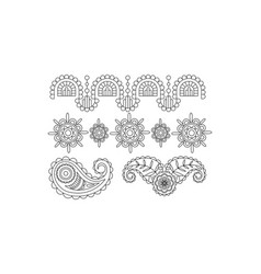 elegance monochrome vintage design elements vector image