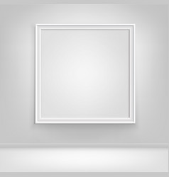 empty white poster picture frame on wall vector image