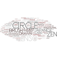 enso word cloud concept vector image