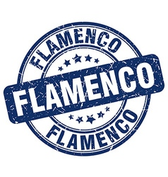 Flamenco blue grunge round vintage rubber stamp vector