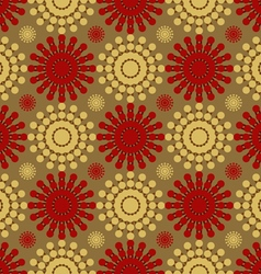 Flowers abstract pattern of circles vector image