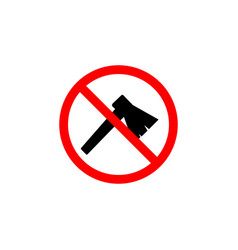 forbidden ax icon can be used for web logo mobile vector image