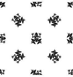 Frog pattern seamless black vector