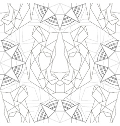 Geometric pattern tiger head trendy line design vector