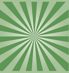 green sunburst vector image