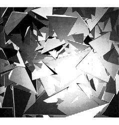 Halftone abstract background in black and white vector