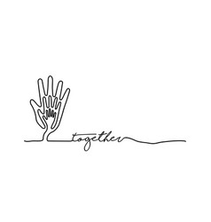 Hand tree web banner in single line style vector