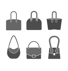 handbag icons set vector image