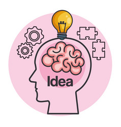human head creating a new idea vector image