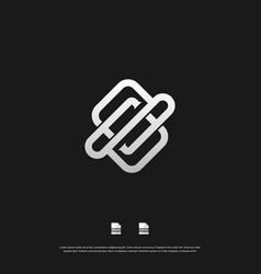 letter s monogram logo design eps 10 vector image