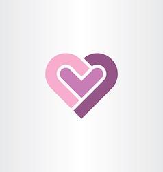 love heart icon clip art vector image