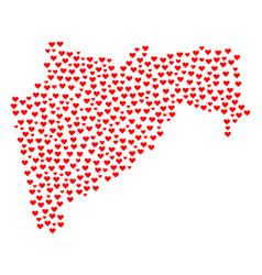 Love mosaic map of maharashtra state vector