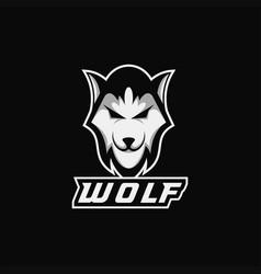 modern wolf esport vector image