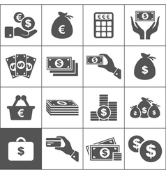 Money an icon vector image