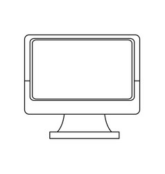 Monitor screen device technology wireless icon vector