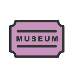 Museum tag vector