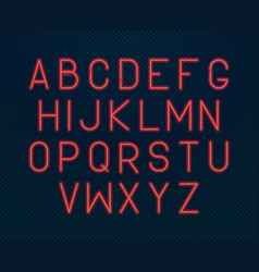 neon alphabet glowing electric written font vector image