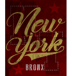 new york fashion style tee art vector image