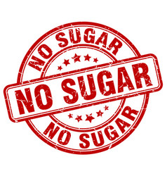 No sugar red grunge stamp vector
