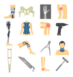 Orthopedic icons collection vector