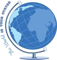 Oyster Globe vector