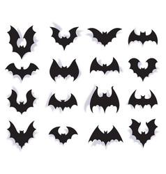 paper bats halloween symbol creepy flying vector image