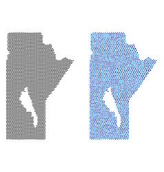 Pixel manitoba province map abstractions vector