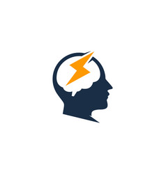 Power brain logo icon design vector