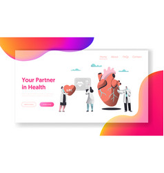 professional health care partnership landing page vector image