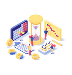 Project management lab isometric vector