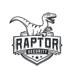 Raptor sport logo mascot design Vintage college vector