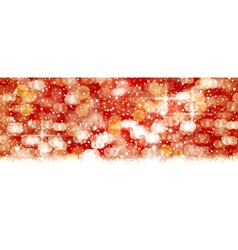 Red abstact background blown out lights vector image vector image