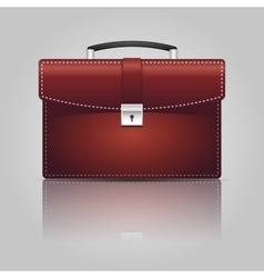 Red briefcase vector image