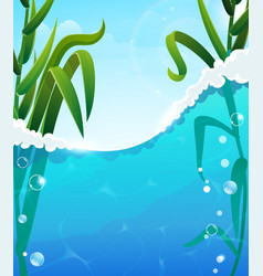 river and aquatic plants vector image