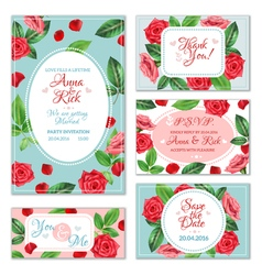 Rose Flower Banners vector