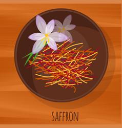Saffron flat design icon vector