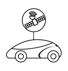 Smart or intelligent car futuristic technology vector