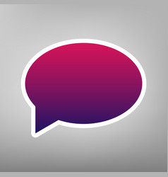 Speech bubble icon purple gradient icon vector